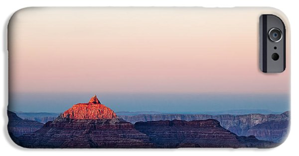 Grand Canyon iPhone Cases - Red Peak iPhone Case by Dave Bowman