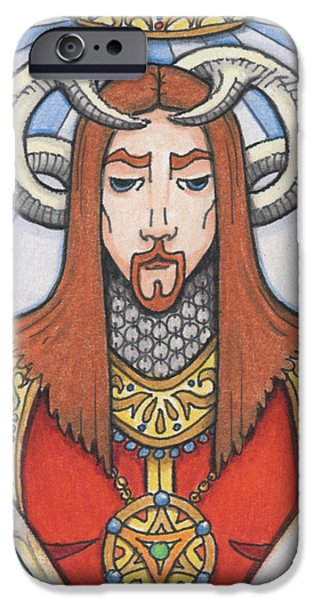 Aceo iPhone Cases - Red Prince iPhone Case by Amy S Turner