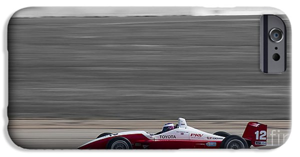 Indy Car iPhone Cases - Red Racer iPhone Case by Darcy Michaelchuk