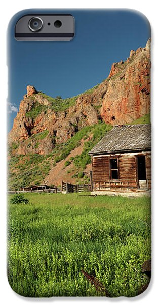 Red Rock Cabin iPhone Case by Leland D Howard