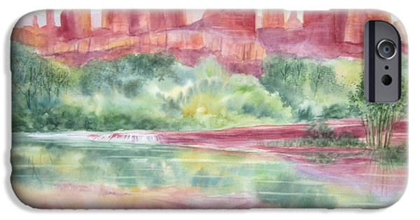 Oak Creek Paintings iPhone Cases - Red Rock Canyon iPhone Case by Deborah Ronglien