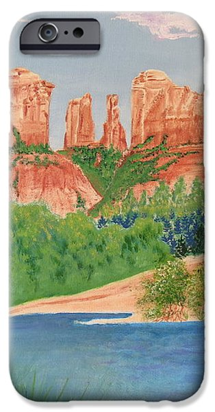 Red Rock Crossing iPhone Case by Aimee Mouw
