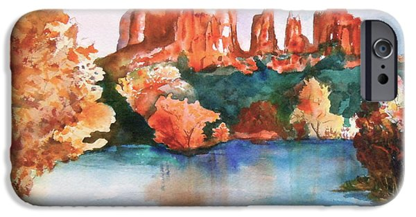 Recently Sold -  - Oak Creek iPhone Cases - Red Rock Crossing iPhone Case by Sharon Mick