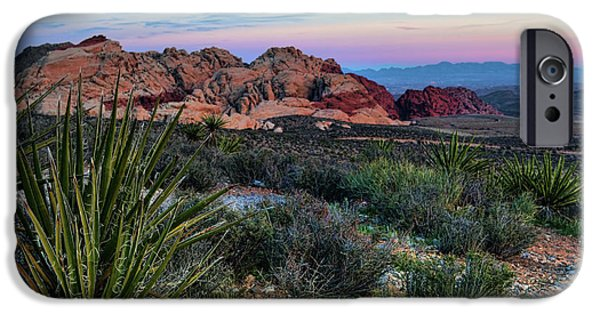 Red Rock iPhone Cases - Red Rock Sunset II iPhone Case by Rick Berk