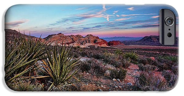 Red Rock iPhone Cases - Red Rock Sunset iPhone Case by Rick Berk