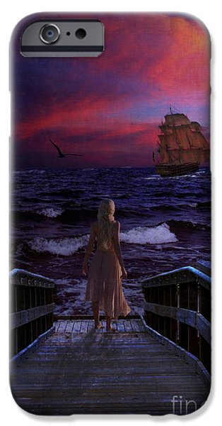 Sailboat Ocean iPhone Cases - Red Sails in the Sunset iPhone Case by Lianne Schneider