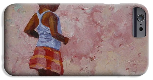 Figure iPhone Cases - Red Skirt iPhone Case by Yvonne Ankerman