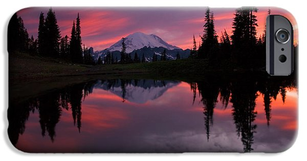 Sunset iPhone Cases - Red Sky at Night iPhone Case by Mike  Dawson