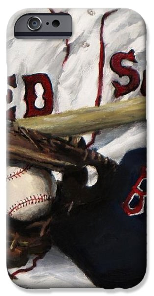 Red Sox number nine iPhone Case by Jack Skinner