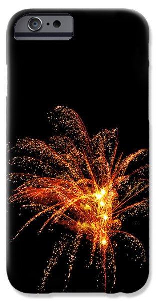 July 4th Digital Art iPhone Cases - Red Splash iPhone Case by Phill  Doherty