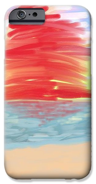 Red Sun Setting iPhone Case by Heidi Smith