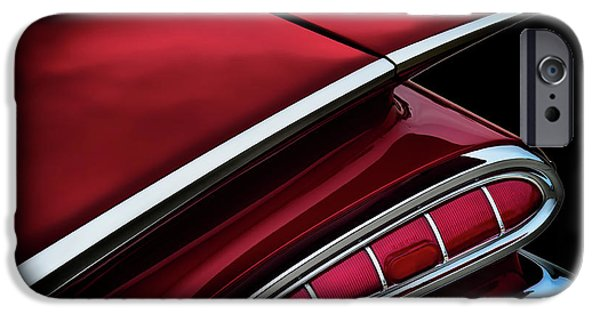 Chrome iPhone Cases - Red Tail Impala Vintage 59 iPhone Case by Douglas Pittman