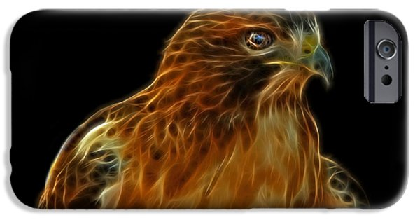 Hawk Art iPhone Cases - Red-Tailed Hawk iPhone Case by Sandy Keeton