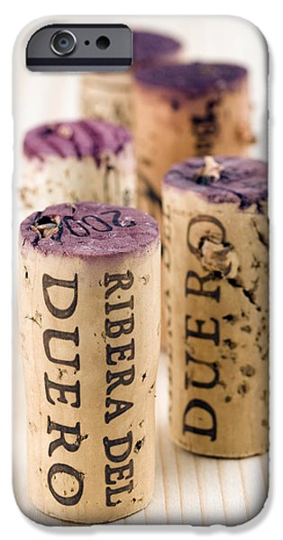 Red wine corks from Ribera del Duero iPhone Case by Frank Tschakert