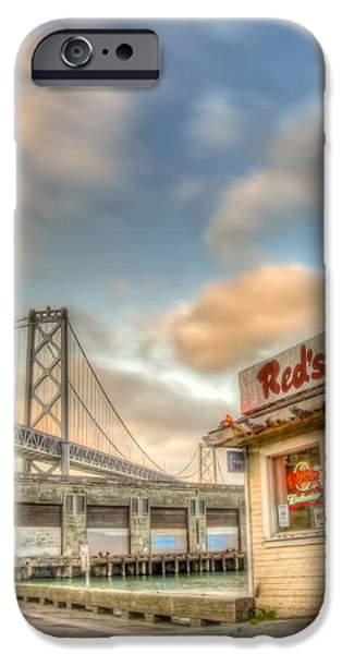 Red's and the Bay Bridge iPhone Case by Scott Norris