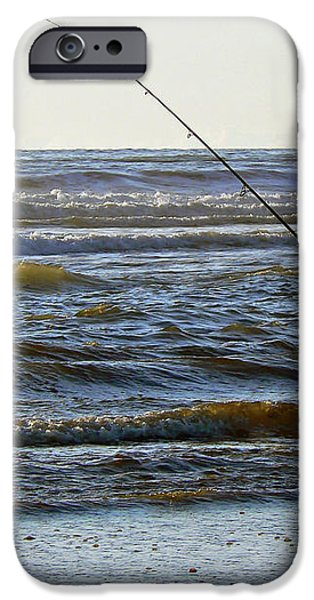 Reeling In Dinner  iPhone Case by Pamela Patch