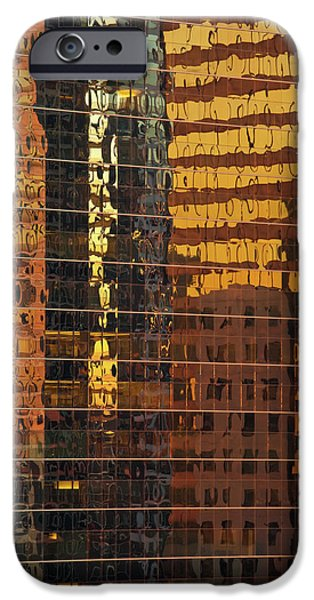 Sears Tower iPhone Cases - Reflecting Chicago iPhone Case by Steve Gadomski