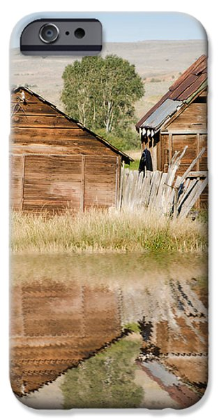 Reflection of an Old Building iPhone Case by Donna Van Vlack
