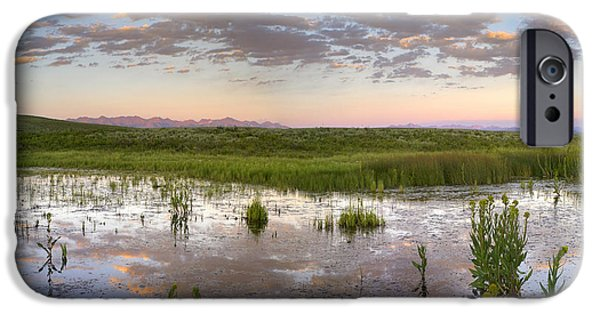 Arapaho iPhone Cases - Reflection Of Clouds In The Water iPhone Case by Tim Fitzharris