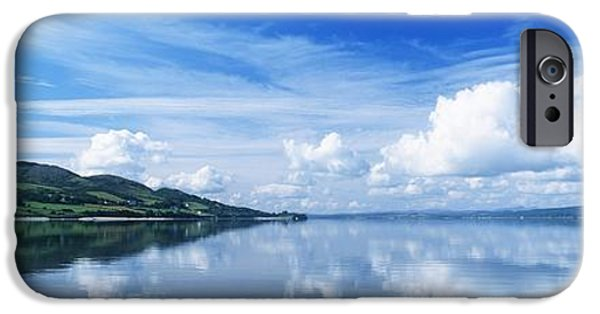Reflections Of Sky In Water iPhone Cases - Reflection Of Clouds In Water, Lough iPhone Case by The Irish Image Collection