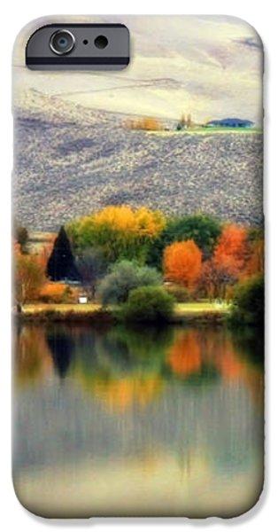 Reflection of Fall in Prosser iPhone Case by Carol Groenen