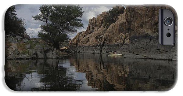 Watson Lake iPhone Cases - Reflection of the Dells iPhone Case by Ramie Liddle