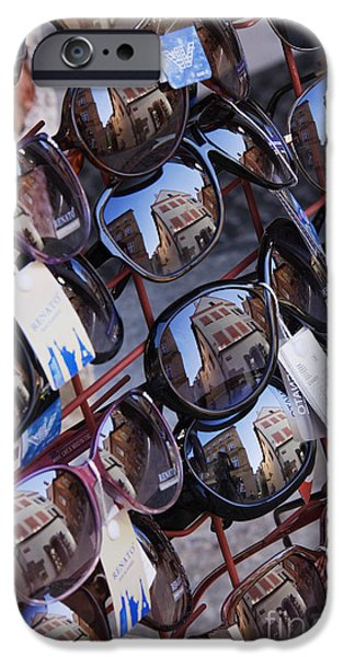 Reflections in Sunglasses iPhone Case by Jeremy Woodhouse