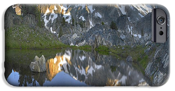 Mountains iPhone Cases - Reflections In Wasco Lake Twenty Lakes iPhone Case by Tim Fitzharris