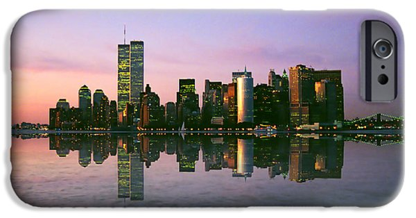 Twin Towers Nyc iPhone Cases - Reflections iPhone Case by Joann Vitali