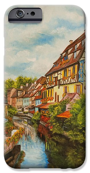 Reflections of Colmar iPhone Case by Charlotte Blanchard