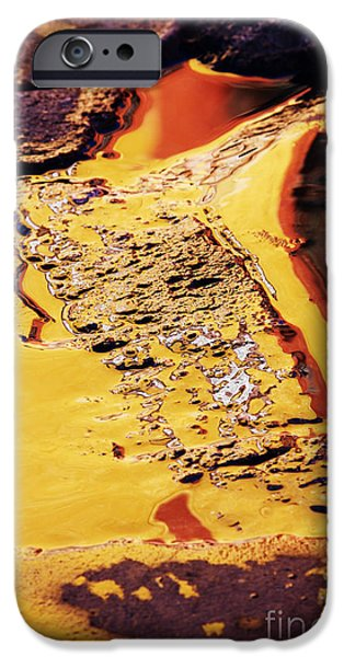Reflections on Wet Road iPhone Case by Jeremy Woodhouse