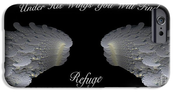 Psalm iPhone Cases - Refuge iPhone Case by Cheryl Young