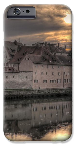 Regensburg Cityscape iPhone Case by Anthony Citro