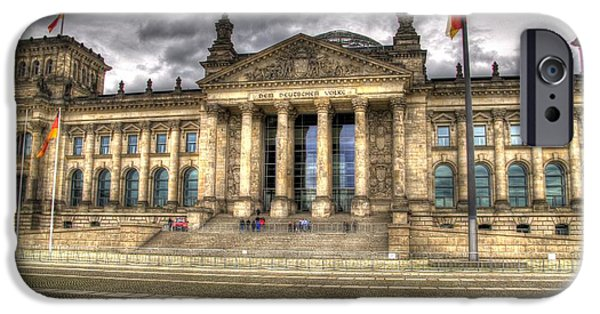 Berlin Germany iPhone Cases - Reichstag Building  iPhone Case by Jon Berghoff