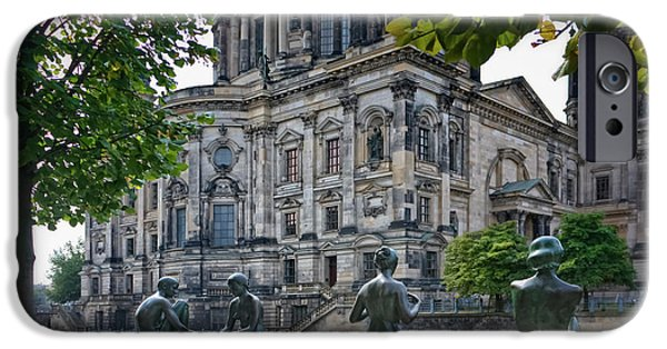 Deutsch iPhone Cases - Relaxing by the River iPhone Case by Joan Carroll