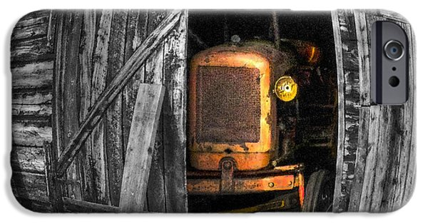 Shed Digital Art iPhone Cases - Relic From Past Times iPhone Case by Heiko Koehrer-Wagner