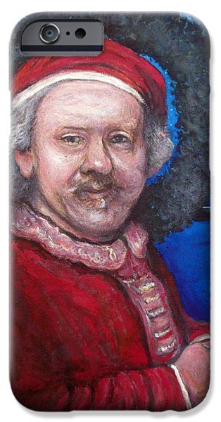 Rembrandt Santa iPhone Case by Tom Roderick