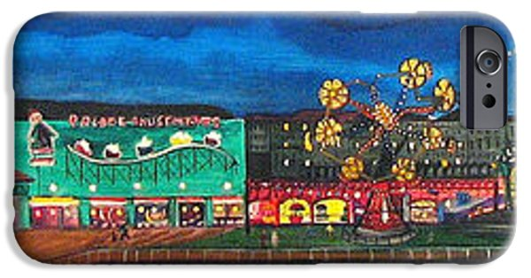 Asbury Park Paintings iPhone Cases - Remember When iPhone Case by Patricia Arroyo