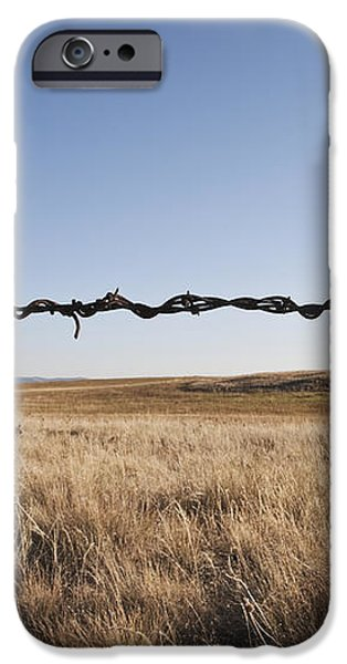 Repaired Strand of Barbed Wire iPhone Case by Jetta Productions, Inc