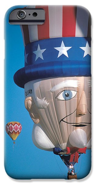 Republican Balloon Flys at Albuquerque iPhone Case by Carl Purcell