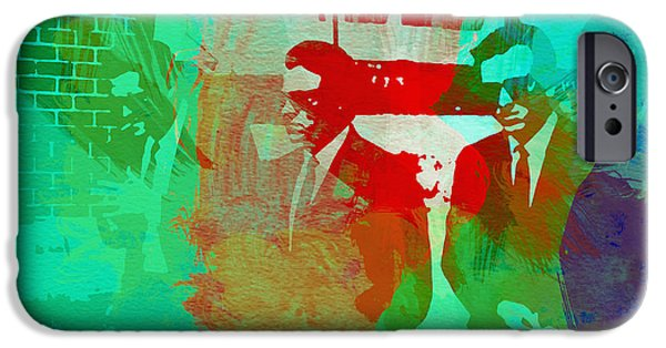 Film Paintings iPhone Cases - Reservoir Dogs iPhone Case by Naxart Studio