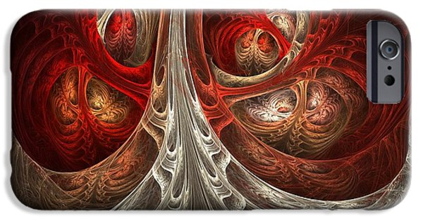 Abstract Digital Art iPhone Cases - Respiratory iPhone Case by Lourry Legarde