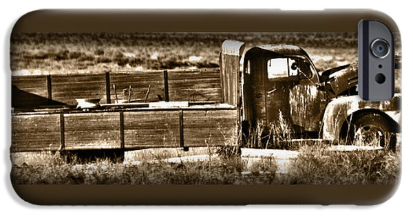 Rust iPhone Cases - Retired Truck iPhone Case by Shane Bechler
