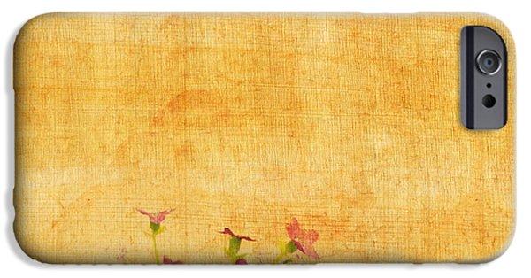 Torn iPhone Cases - Retro Flower Pattern iPhone Case by Setsiri Silapasuwanchai