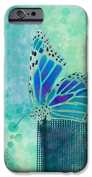 Insects iPhone Cases - Reve de Papillon - s02b iPhone Case by Variance Collections