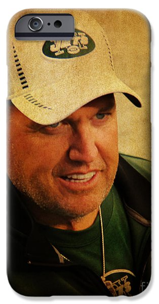 Rex Ryan - New York Jets iPhone Case by Lee Dos Santos