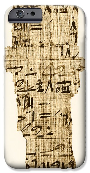 Papyrus iPhone Cases - Rhind Papyrus iPhone Case by Photo Researchers