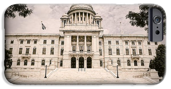 Capitol iPhone Cases - Rhode Island State House iPhone Case by Lourry Legarde