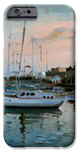Rhodes Mandraki Harbour iPhone Case by Ylli Haruni