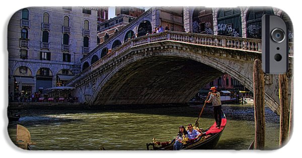 Interface iPhone Cases - Rialto Bridge in Venice Italy iPhone Case by David Smith